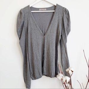 💛 Zara Grey Classic Cardigan Size Medium
